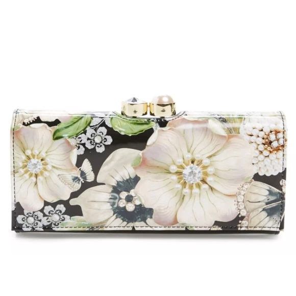 957b0e9f6 Ted Baker Edits Gem Gardens Leather Matinee Wallet